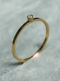 30_Złoty pierścionek z Cyrkonią