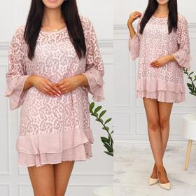 1331 Letnia koronkowa tunika sukienka bluzka