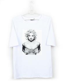 802/BAWEŁNIANA BLUZKA T-SHIRT Koszulka PRINT